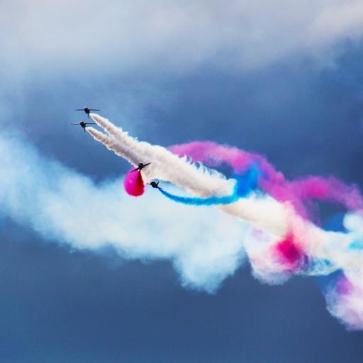 战斗机 飞机 烟雾 航空 表演 演习 飞行