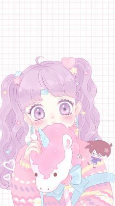 动漫 萝莉 粉色系 甜美