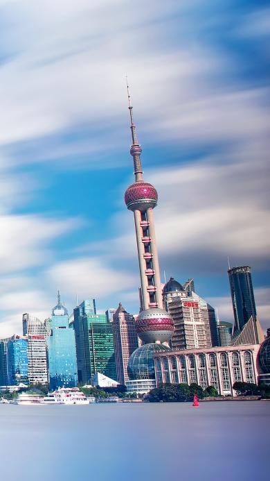 上海 东方明珠 电视塔 建筑