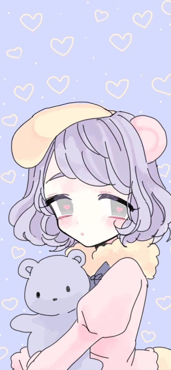 日系 动漫 萝莉 熊娃娃