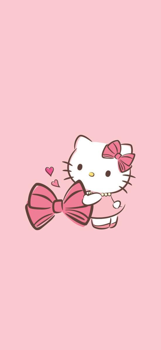 粉色背景 HelloKitty 凯蒂猫