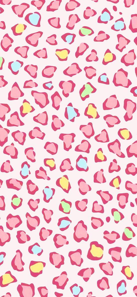 粉色 豹纹 图案 密集 平铺