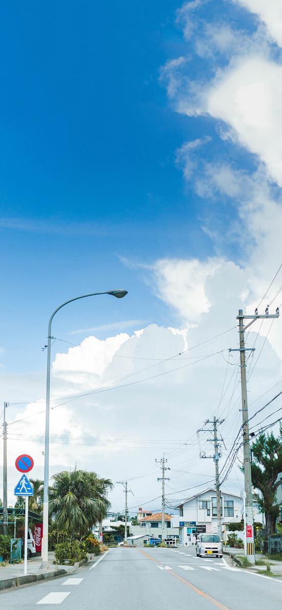 日本 城市 街道 小清新 天空