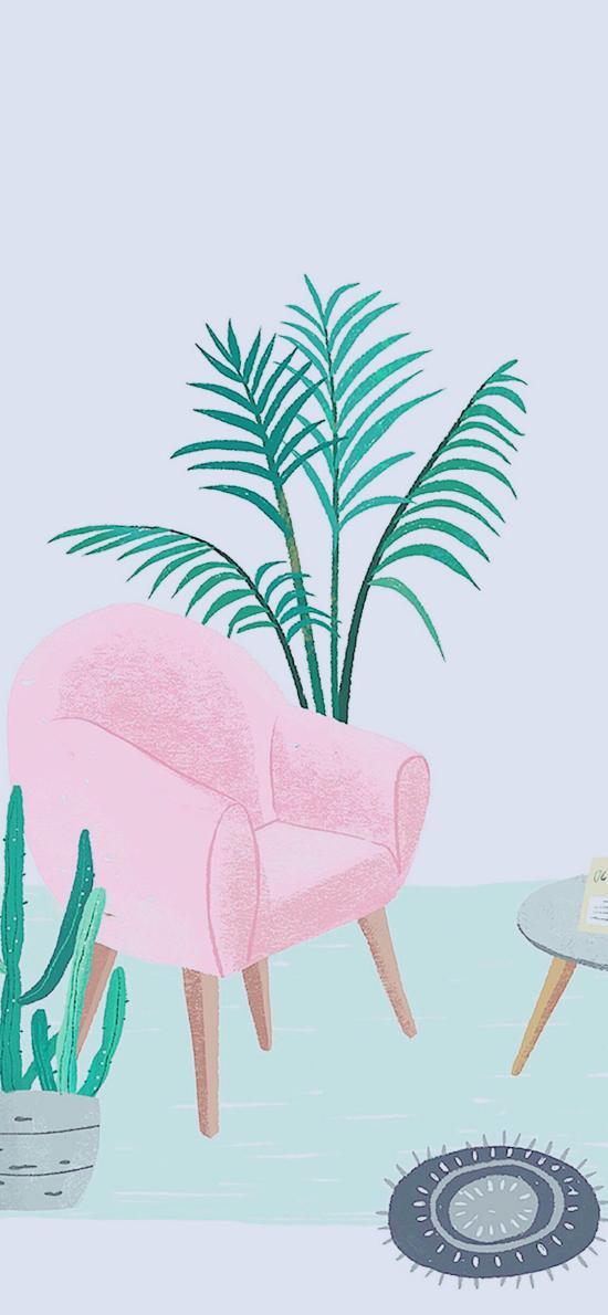 创意 沙发 盆栽 绿植
