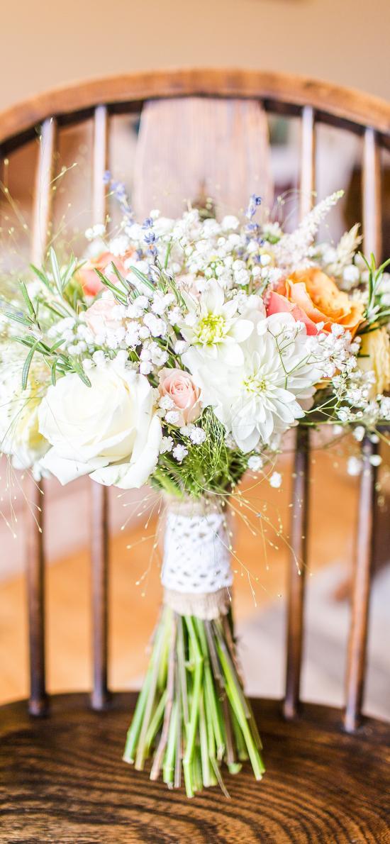 花束 鲜花 盛开 满天星 玫瑰
