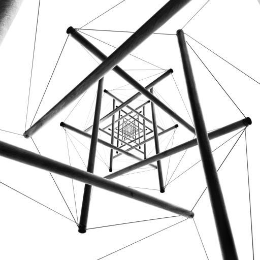 立体 视觉 空间 灰白 层次