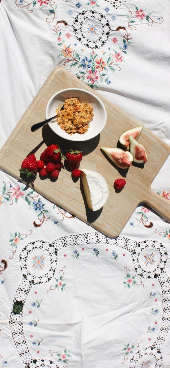 餐点 草莓 无花果 奶酪