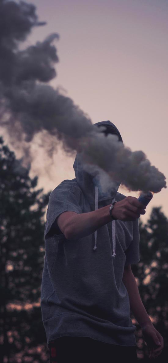 烟雾弹 信号 欧美 男孩