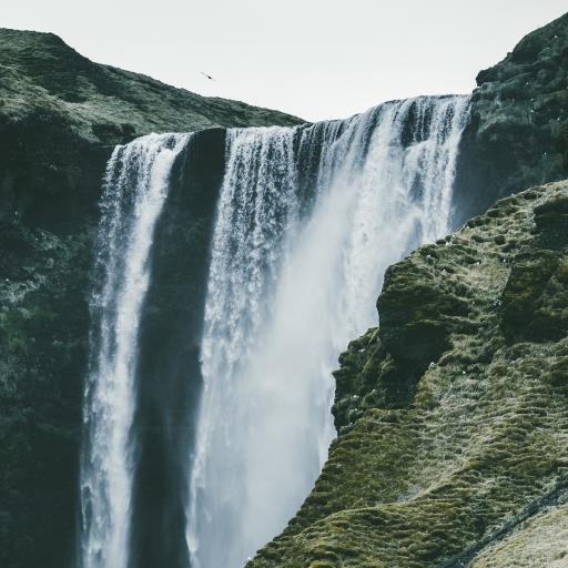 山水 瀑布 景色 高处