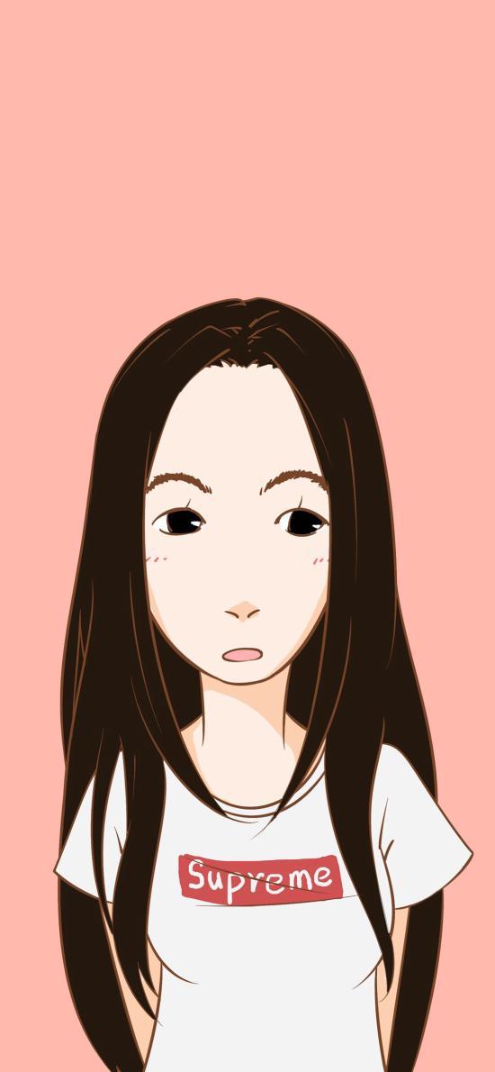 卡通 情侣 女生 长发