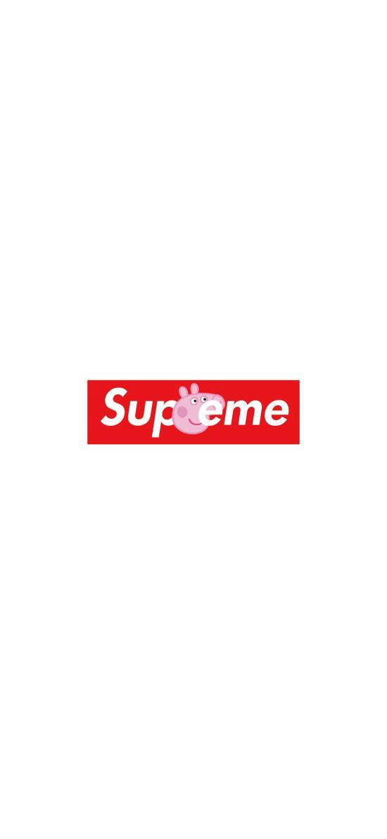 supreme 小猪佩奇 双标