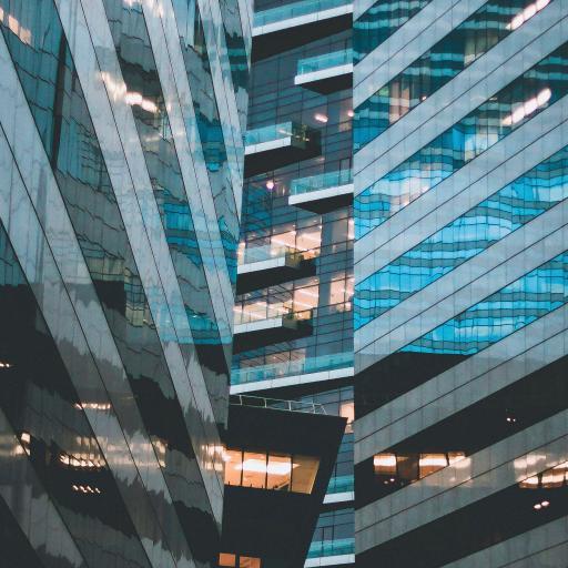 建筑 玻璃幕墙 反光 城市