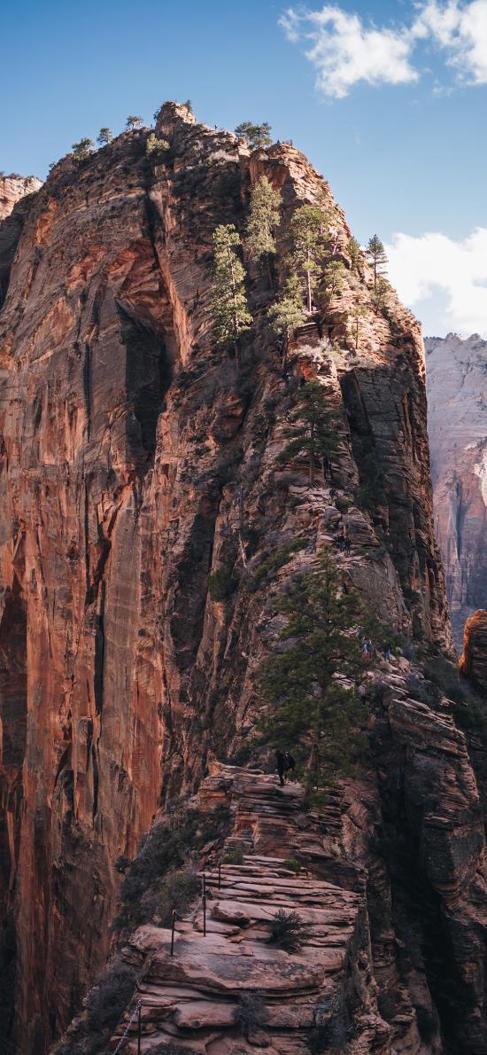 山 断层 花岗岩 峭壁