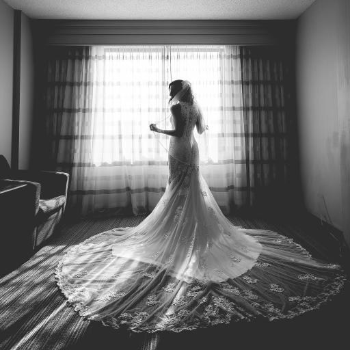 婚纱 黑白 礼服 纱裙