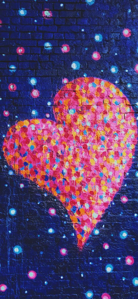 爱心 涂鸦 喷漆 色彩