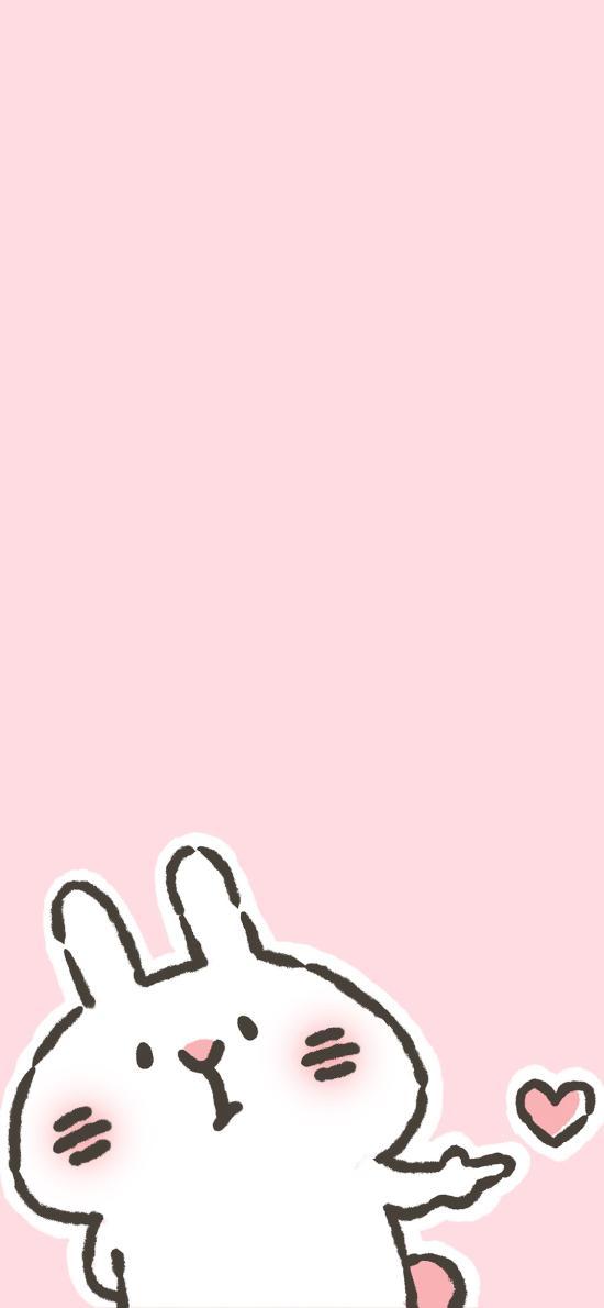兔子 情侣 粉色 可爱 爱心