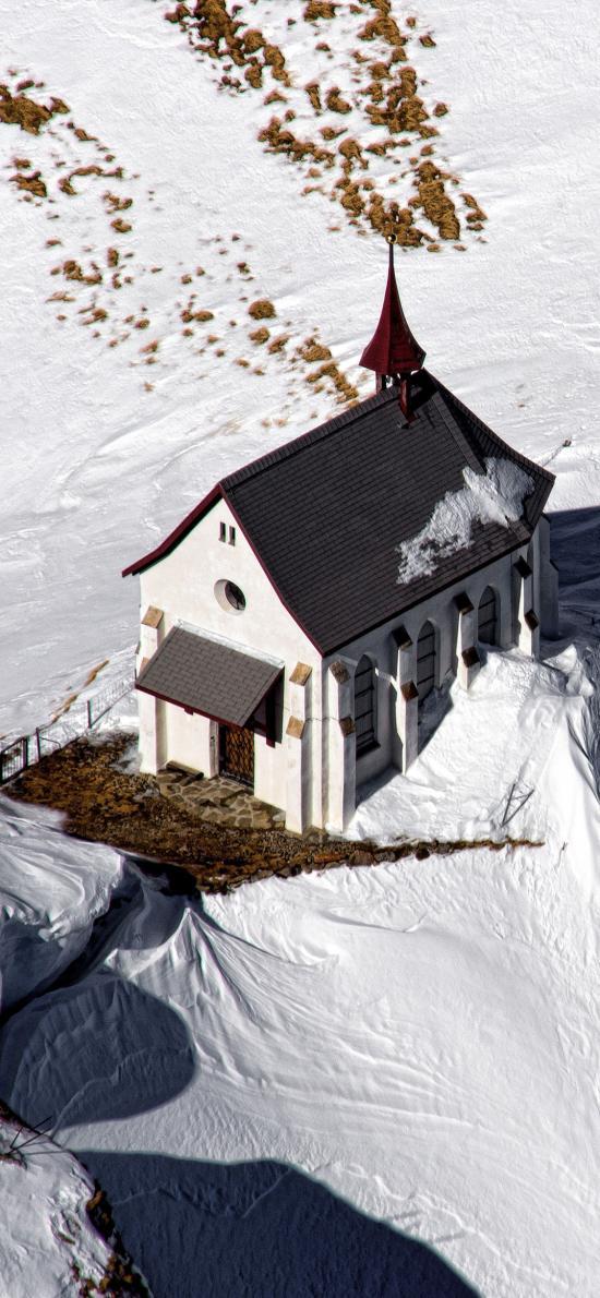 雪地 白雪覆盖 建筑 房屋