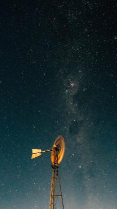 星空 塔 夜晚 璀璨