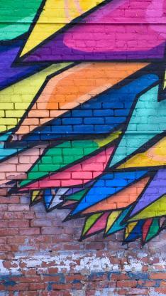 涂鸦 色彩 街头 墙壁