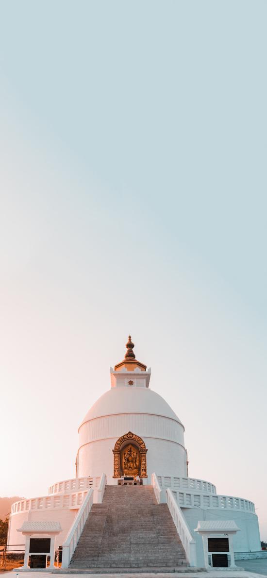 印度尼泊尔 世界和平塔 寺院