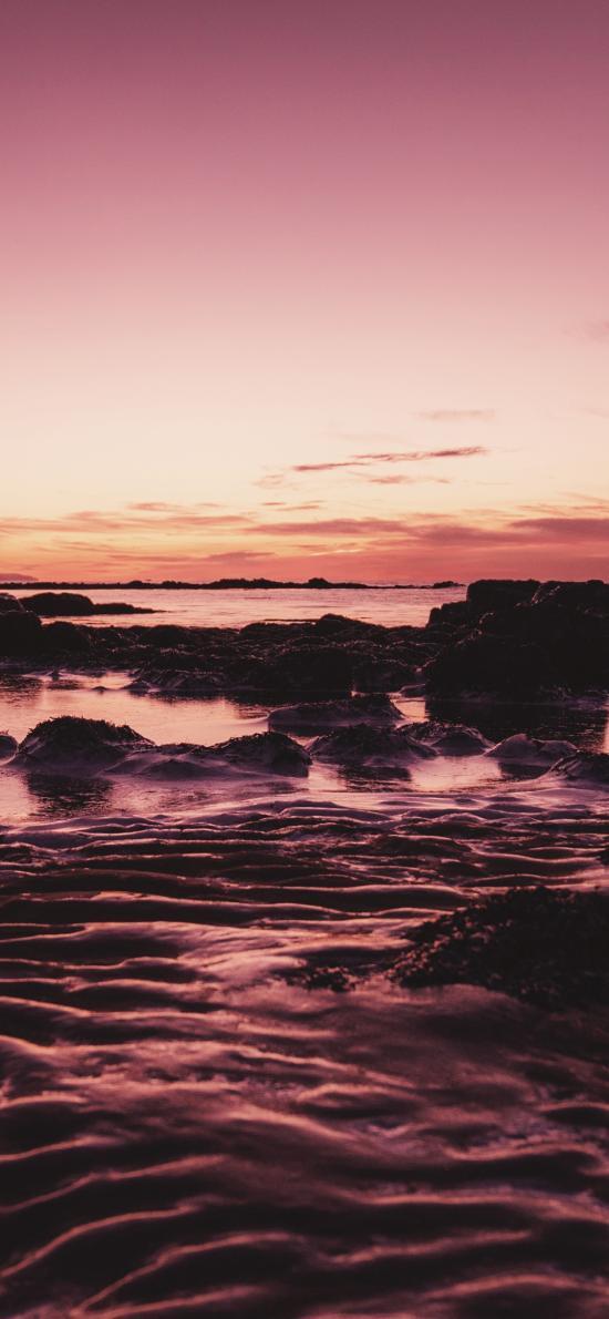 景色 天空 唯美 礁石