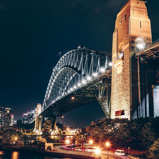 夜景 景色 璀璨 城市 桥