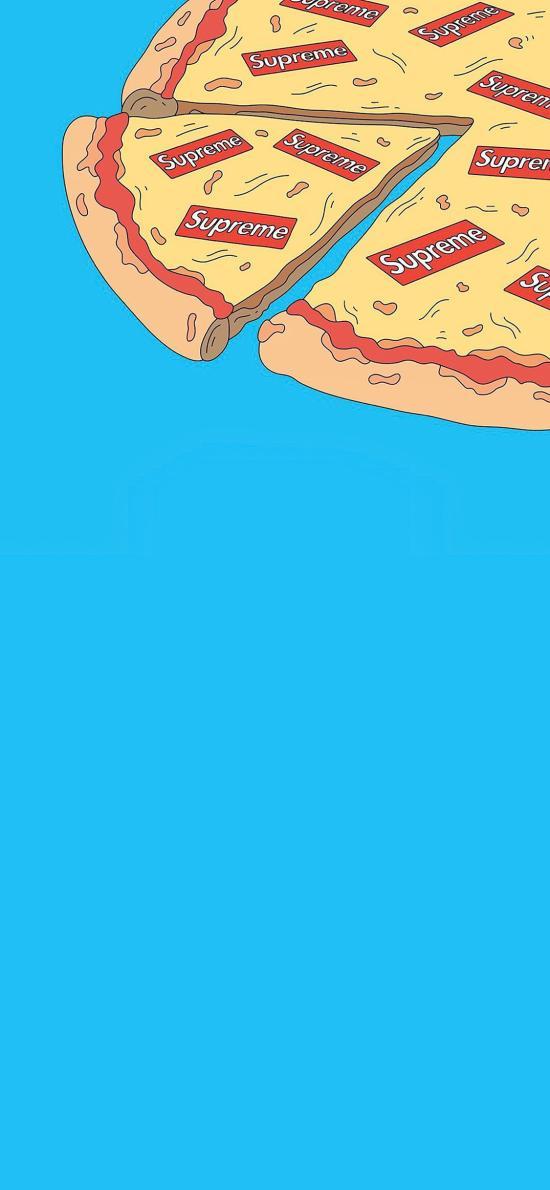 披萨 插画 supreme 绘画