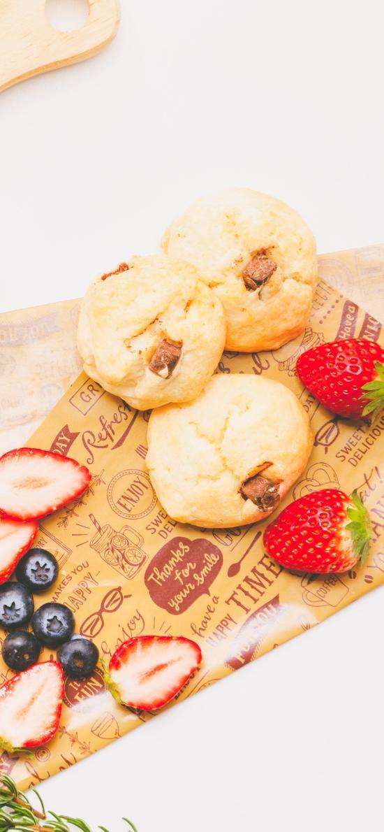 水果 柠檬 草莓 蓝莓 饼干 茴香