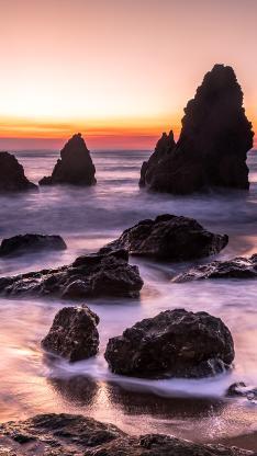 海岸 海边 礁石 潮汐