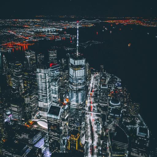 城市 夜景 灯光 璀璨