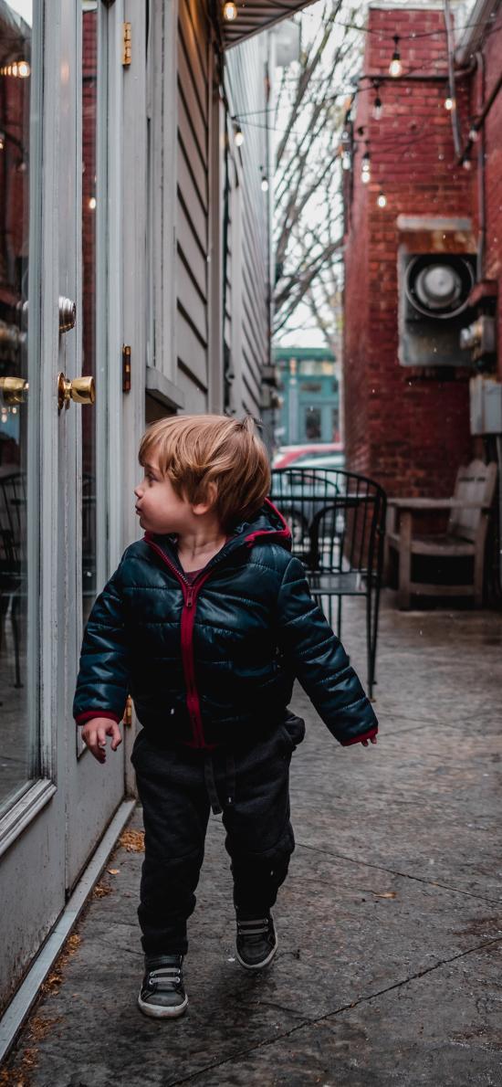 小孩 幼儿 欧美 街道