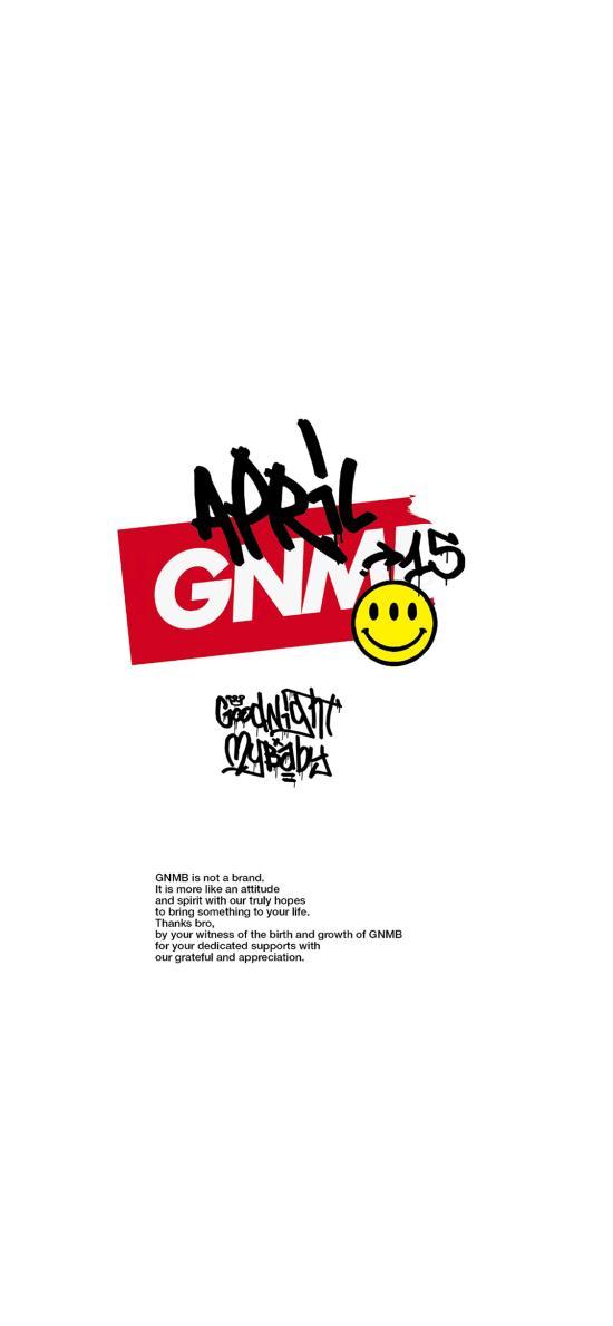白色背景 GNMB 微笑脸
