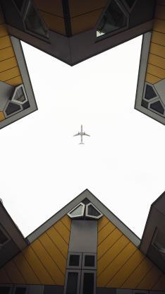 建筑 房屋 飞机 飞行
