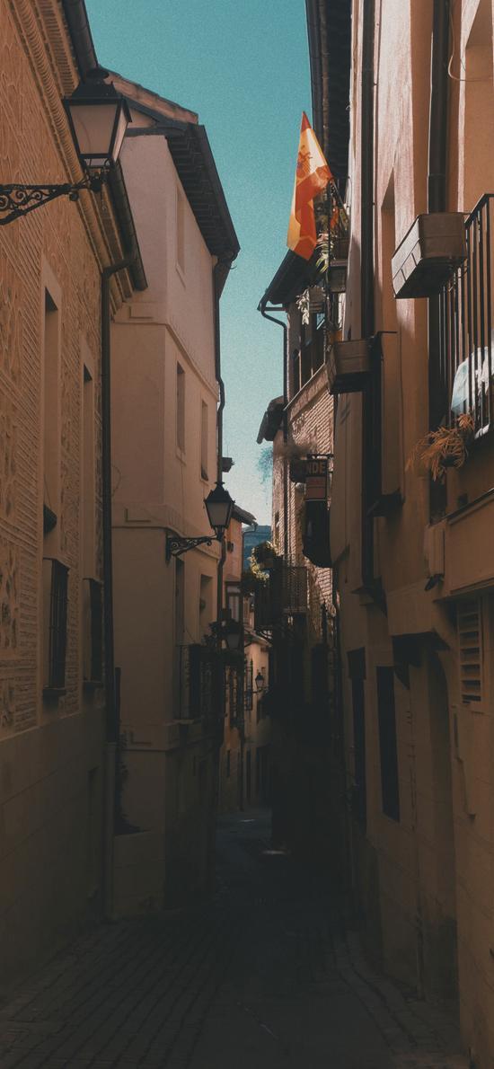 小巷 建筑 楼房 住宅 城市