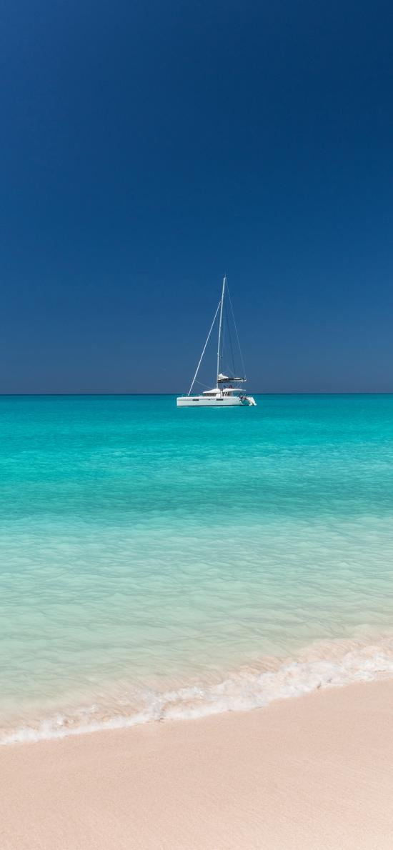 海平面 海边 沙滩 轮船