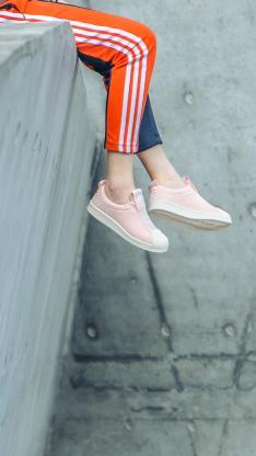 运动裤 鞋子 双腿 休闲