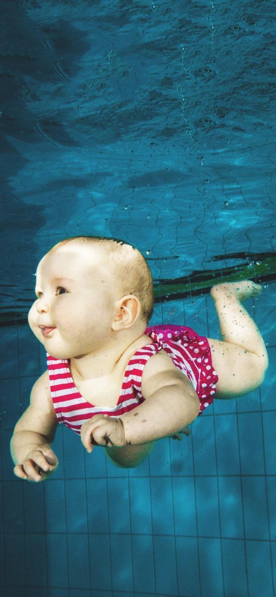 游泳 泳池 宝宝 婴儿 可爱