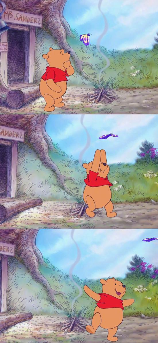 动画片 小熊维尼 蜂蜜熊