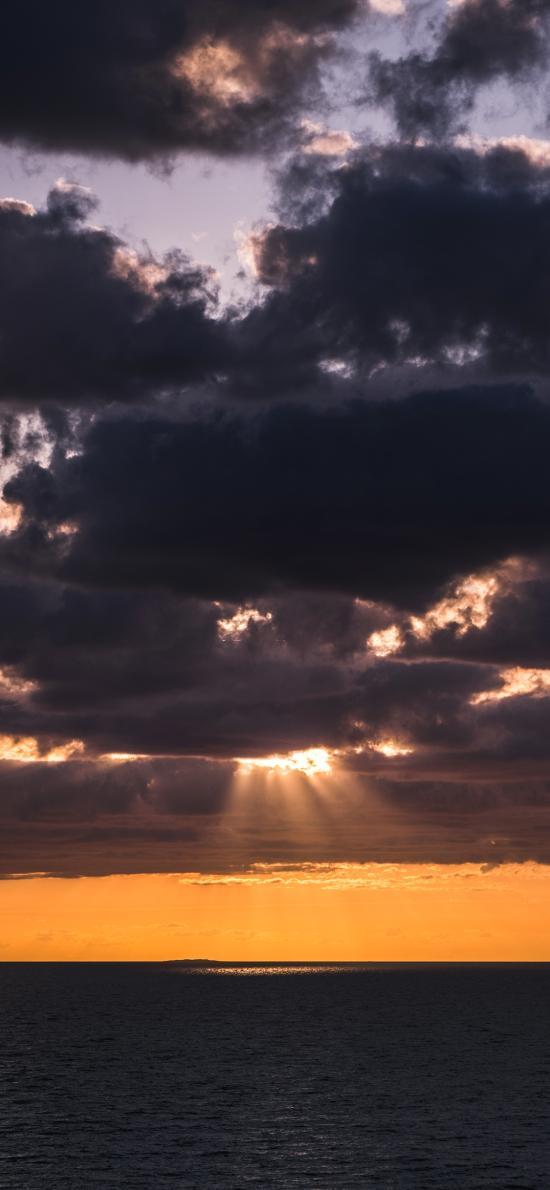 天空 云层 乌云 阳光