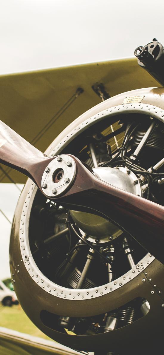 螺旋桨 飞机 机翼 机头