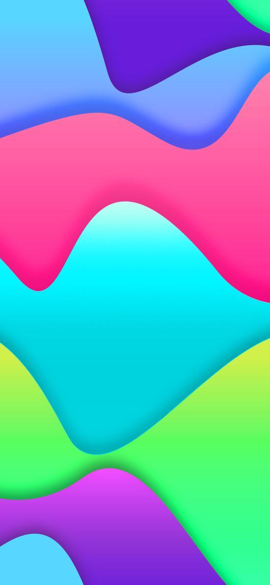 色彩 曲线 波浪 炫丽 多彩
