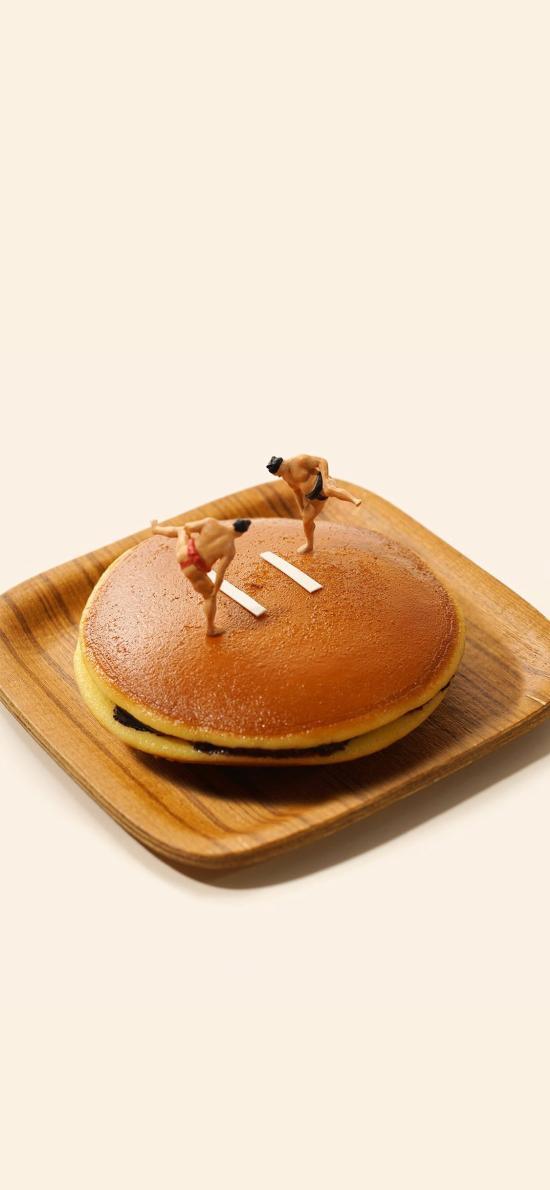 铜锣烧 相扑 日本 甜品 食物 组合