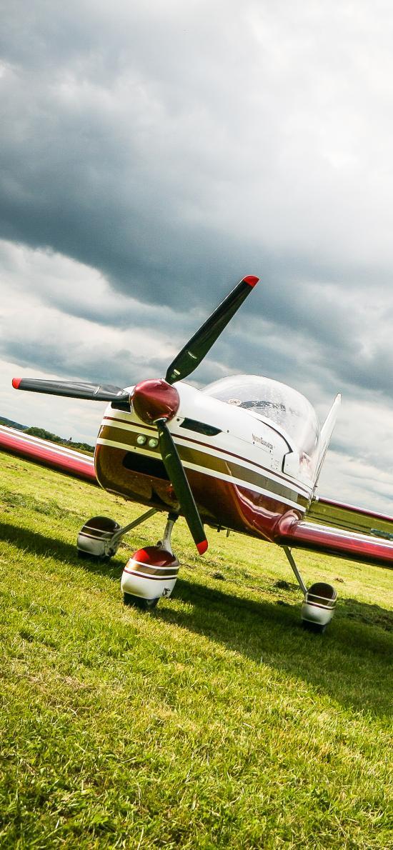飞机 飞行 草坪 螺旋桨