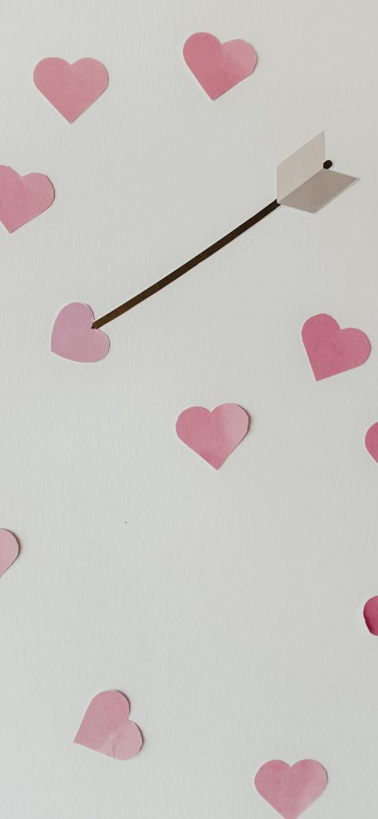 爱心 箭矢 纸片 手工