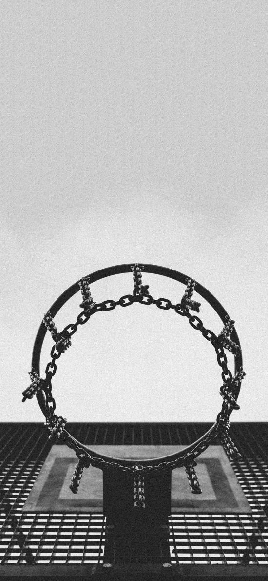 球场 篮球框 体育器材 黑白