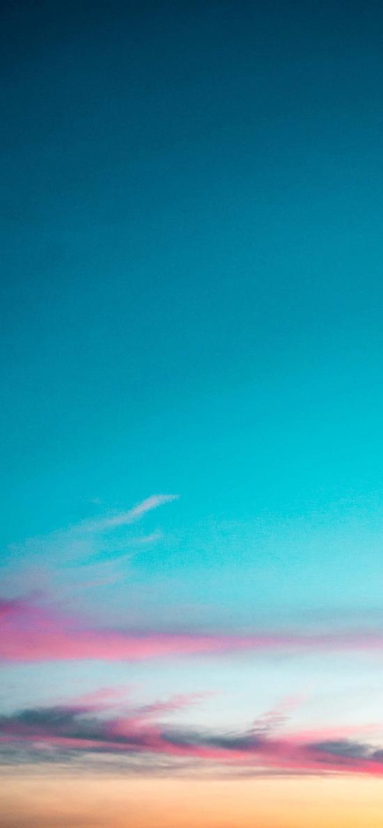 蓝天 蔚蓝 彩霞 夕阳
