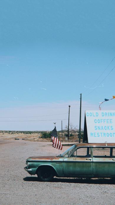 旅途 旅行 汽车 郊外 荒漠 欧美 道路