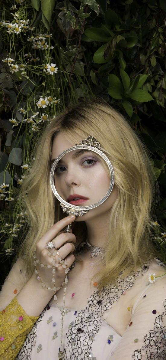 艾丽·范宁 欧美 演员 明星 艺人 放大镜