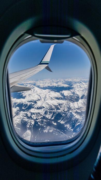 飞机 窗户 机尾 冰川