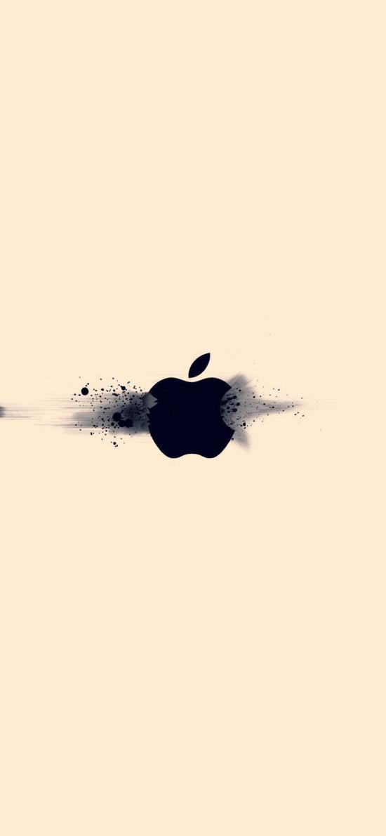 纯色背景 苹果logo iPhone